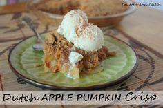 Crumbs and Chaos: Dutch Apple Pumpkin Crisp