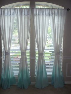 Shop for curtains on Etsy, the place to express your creativity through the buying and selling of handmade and vintage goods. Ombre Curtains, Panel Curtains, Curtain Panels, Sea Foam, Dip Dyed, Dining Room, Etsy, Home Decor, Ideas
