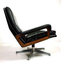 straessle king leder club sessel / lounge chair
