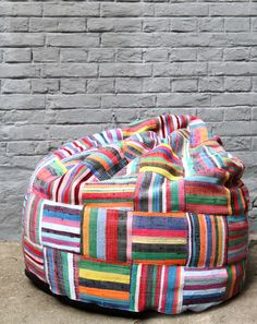dubaruba boribori by ashanti - Go nuts with contemporary African design!  The wonderful Ashanti Design beanbags are 100% remanufactured. They are carefully handcrafted single pieces which impress with a totally unique weaving style of a natural fibres mixture and modern fabric off-cuts. Their natural sense of colour characterise the raw but beautiful nature of origin.  Bori Bori beanbags are available in many different sizes, colours and shapes. Photo by Anne-Sophie Wass