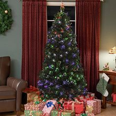 Best Choice Products is proud to present this new Fiber Optic Christmas tree. Our premium artificial Christmas trees with Fiber Optic lights, powered by energy saving LED lights, gleam evenly throughout the tree. Our trees are great quality, making it your best choice. The dense foliage, made of fade- and crush- resistant PVC needles, appears fresh-cut. The tips are sculpted to enhance the trees' lifelike appearance. In addition the staggered branches give the tree a fuller profile. Sturdy…