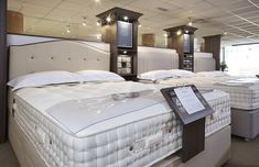 Mattress Buying Guide: In the Showroom - Harrison Beds Showroom Design, Cool Stuff, Stuff To Buy, Mattress, Bedroom Decor, Store, House, Shopping, Furniture