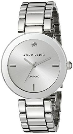 Just arrived Anne Klein Women's AK/1363SVSV  Diamond Dial Silver-Tone Bracelet Watch