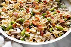 Mushroom & Asparagus One-Pot Pasta from /TheLittleKitchn/ and /thepioneerwoman/