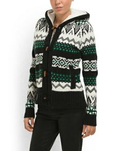 Sherpa Lined Hooded Cardigan - View All - T.J.Maxx
