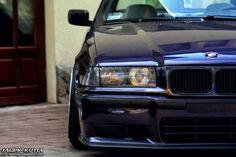 Nice shot of a blue BMW e36
