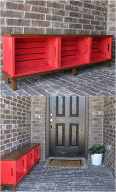 Wooden crates are a great way to create inexpensive storage solutions and furniture! Check out these quick and easy wooden crate projects!