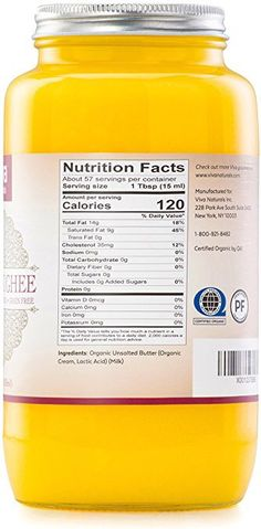 Organic Ghee, Organic Coconut Oil, Grass Fed Ghee, Clarified Butter, Mct Oil, Serving Size, Vitamins, Nutrition, Dishes