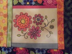 Folktales 2013. I have this block pattern but have not yet played with crayon colouring fabric.