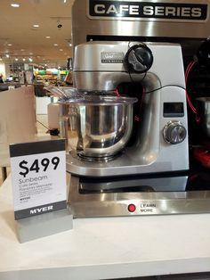 Jaclyn, Myer.  Sunbeam Cafe Series planetary mixer, $499.00