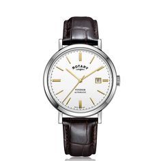 Rotary Watches, Stainless Steel Case, Windsor, Brown Leather, Hands, Wedding Gifts, Accessories, Wedding Day Gifts, Wedding Favors