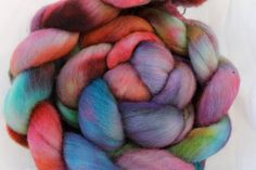 Hand Dyed POLWARTH TOP 4 oz by COLORCRAZEFIBER on Etsy, $16.00