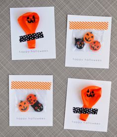 washi tape + printable halloween party favors    a pretty cool life