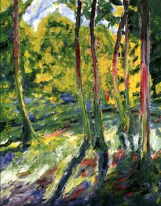 Emil Nolde Forest with Yellow-Green Light - 1911