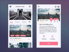 Guided Tours UI Design by Gowri