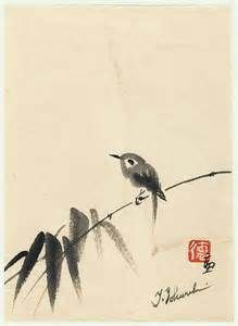 Japanese ink painting by Sumie. Japanese Ink Painting, Sumi E Painting, Japanese Watercolor, Japanese Drawings, Watercolor Bird, Chinese Painting, Chinese Art, Chinese Brush, Japanese Bird
