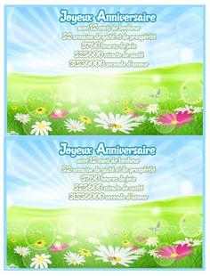 Carte anniversaire soleil pour souhaiter un joyeux anniversaire à vos proches. Cette carte est disponible en 2 versions, carte postale et carte pliable.