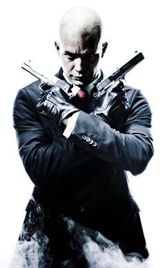 HITMAN movie poster featuring Agent 47 & guns