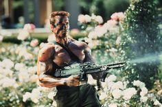 Arnold Schwarzenegger in Commando, 1985