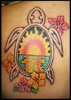 Sun In Turtle Tattoo Add on..(camo nuk* poker chip) angel wings for turtle arms