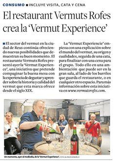 Resumen de prensa - Restaurant Vermuts Rofes 21st, Restaurant, Printing Press, Diary Book, Summary, Diner Restaurant, Restaurants, Dining