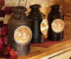 Love these: Vintage Railroad Lanterns