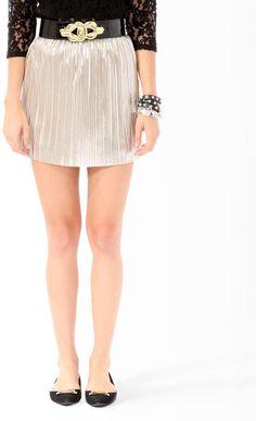 #Forever21                #Skirt                    #Pleated #Lam? #Skirt     Pleated Lam? Skirt                                  http://www.seapai.com/product.aspx?PID=101983