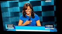 Michelle Obama at #DNC2016. #MichelleObama #FLOTUS