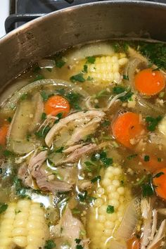 Caldo De Pollo (Mexican Chicken Soup) - Soups, Stews and Chilis - Mexican Soup Recipes, Chicken Soup Recipes, Mexican Dishes, Dinner Recipes, Mexican Sopa, Mexican Chicken Soups, Authentic Mexican Soups, Mexican Desserts, Drink Recipes