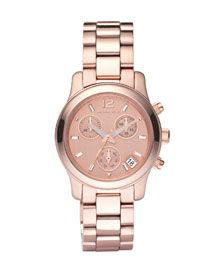 Michael Kors watch. I hate pink but something about rose gold keeps catching my eye.