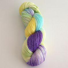 Hand Dyed Yarn  Isabelle  Merino Silk Fingering by YarnLoftbyJulia, $26.00