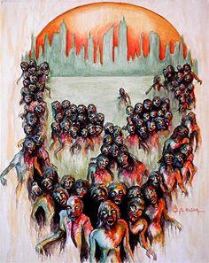 Zombie art from Fine Art America
