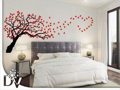 #fa #falmatrica #dekorfa  Gyönyörű, választható színű fa falmatrica hálószobába, nappaliba #otthon #dekoráció