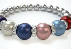 Genuine Swarovski Birthstone Pearl Mother/Family Bracelet. Design a bracelet online in just 3 easy steps! Just $29.95