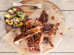 Sticky pork spareribs with nectarine salsa • Here's a flavour-packed new way to prepare pork ribs. We added nectarines to the salsa for a fruity twist.