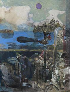 Håkon Bleken. 83 year old Norwegian artist. He painted this after the terrorist action on Utøya last summer