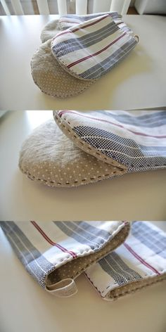 Small Sewing Projects, Sewing Projects For Beginners, Sewing Hacks, Sewing Crafts, Diy Crochet Slippers, Oven Diy, Kitchen Gloves, Sewing Machine Quilting, Towel Crafts