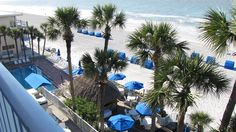 Balcony view of the #beach and Gulf waters from the Doubletree Hotel in North Redington Beach, Florida.