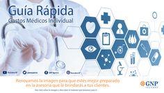 En GNP encontrarás diversas opciones que se adecuan a tus necesidades, por ello renovamos la imagen de la guía rápida #GastosMedicos #Seguros #Guia #GNP