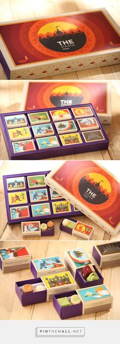 The Park Hotels / Diwali Sweet Box - Would be interesting to make custom Diwali mithai boxes for our party. Sweet Box Design, Bg Design, Cool Packaging, Gift Packaging, Packaging Design, Corporate Diwali Gifts, Diwali Gift Hampers, Mithai Boxes, Diwali Diy