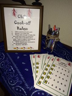 Chili cookoff rules and ballot
