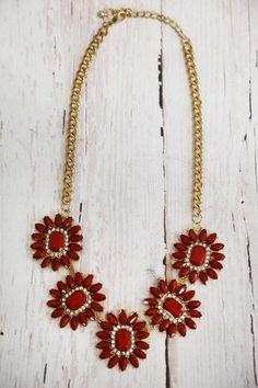 Burgundy Jewel Necklace