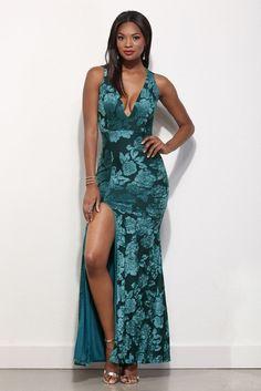 @isabellegeneva  Gwendoline Teal Velvet Dreams Dress | WindsorCloud