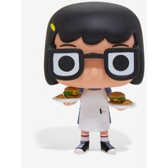 Funko Pop! Bob's Burgers Tina Belcher With Burgers Vinyl Figure ($9) ❤ liked on Polyvore featuring home, home decor, vinyl figure, vinyl figurines, funko and vinyl home decor