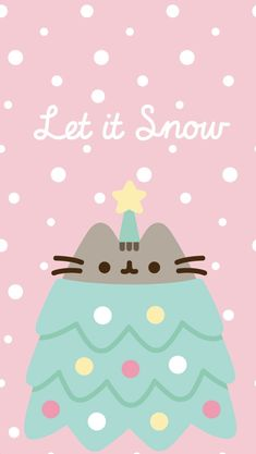 phone wall paper cat Let It Snow Pusheen Phone Wallpaper/Background, Xmas Wallpaper, Christmas Phone Wallpaper, Winter Wallpaper, Wallpaper Iphone Disney, Kawaii Wallpaper, Wallpaper Backgrounds, Galaxy Wallpaper, Chat Pusheen, Pusheen Love