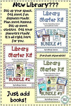 Everything you need to be ready to start the year as a school librarian.  Save a bundle with a BUNDLE!  $