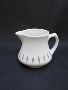 Homer Laughlin China Creamer Best China Made In USA with Gray Diamonds on Etsy, $9.00