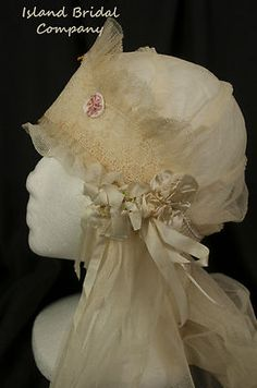 1930's wedding veil and head piece