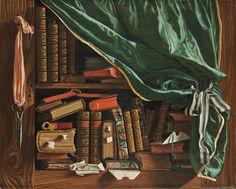 François Foisse, Still Life - The Library, c. 1741. Oil on canvas.