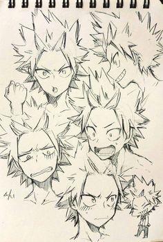 My Hero Academia - Kirishima Eijirou My Hero Academia Memes, Hero Academia Characters, My Hero Academia Manga, Kirishima Eijirou, Anime Drawings Sketches, Anime Sketch, Japon Illustration, Poses References, Boku No Hero Academy
